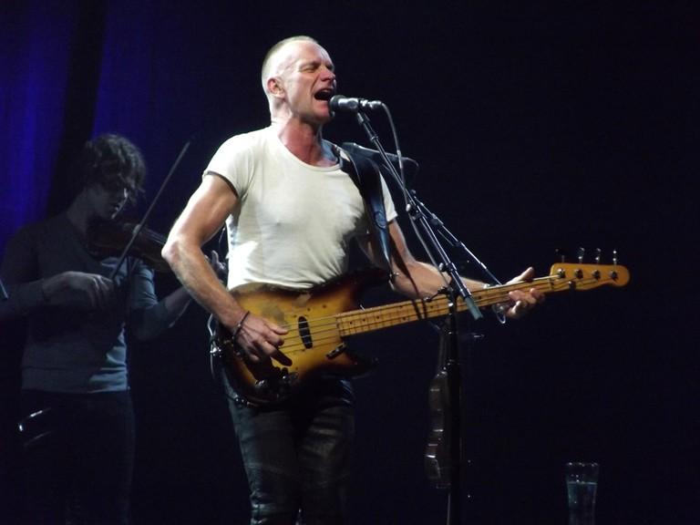 Sting during a 2013 live show | © Piotr Drabik/Flickr