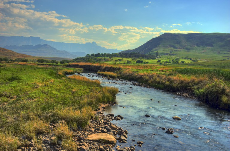 The Drakensberg Mountains around Sani Pass