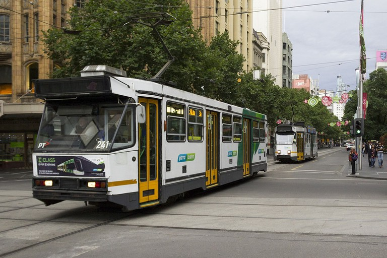 A1_241_and_Z3_202_(Melbourne_trams)_in_Swanston_St,_December_2013