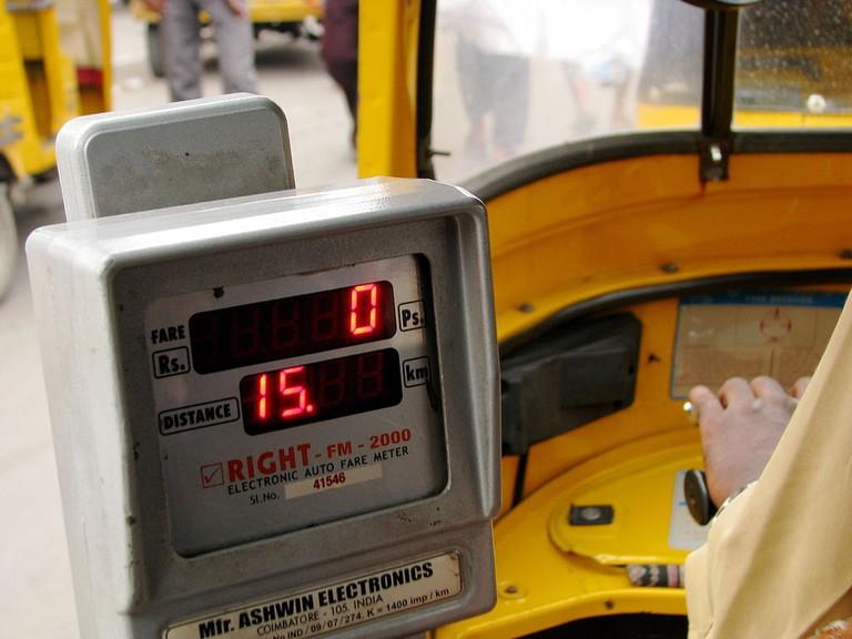 Auto meter in Hyderabad, India