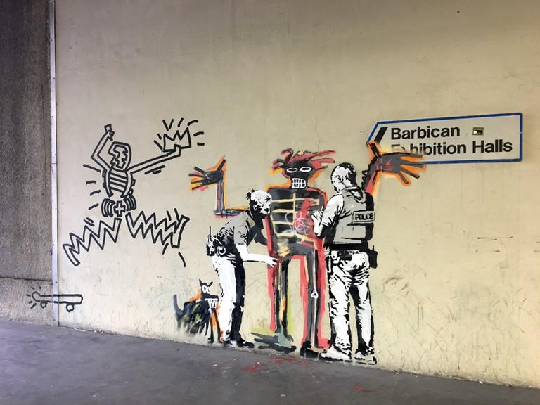 Banksy's homage to Basquiat at Barbican