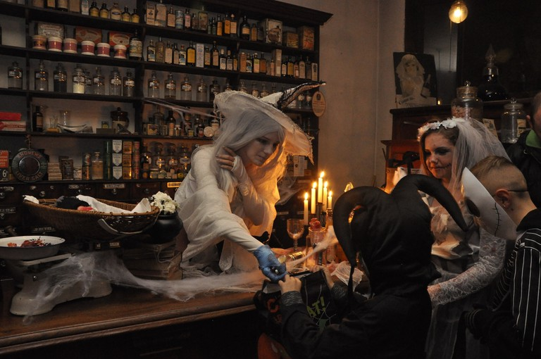 Black Country Living Museum Halloween spooky shop (c) BCLM