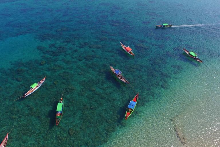 Boats-at-Ngapali-Beach