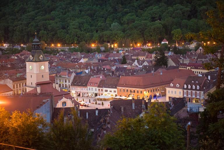 Brasov in the evening