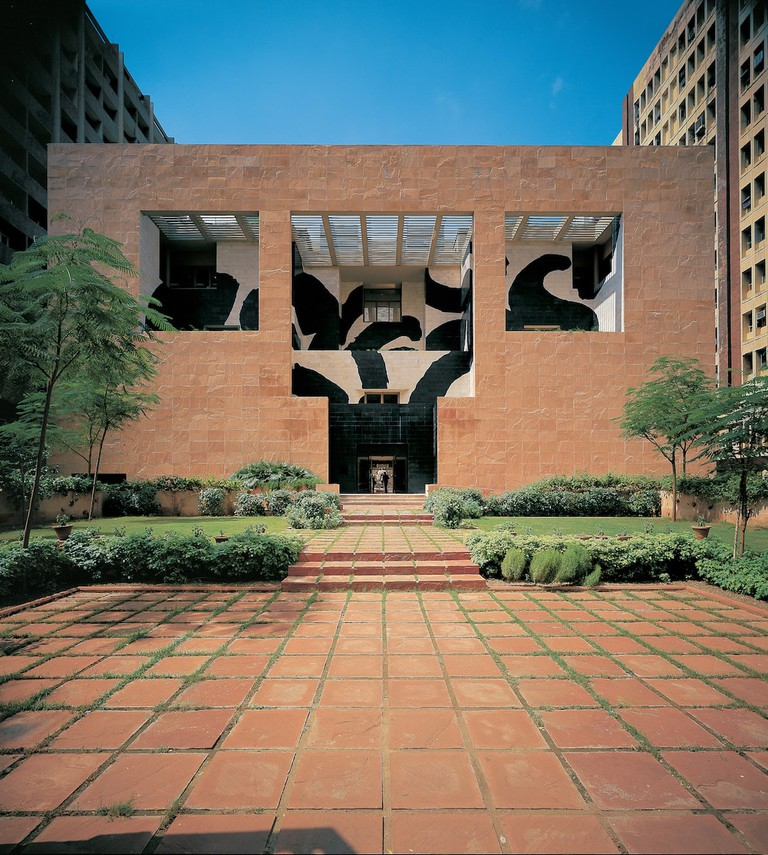 The British Council in New Delhi was built in 1992 and features a mural by British artist Howard Hodgkin | Courtesy of RIBA