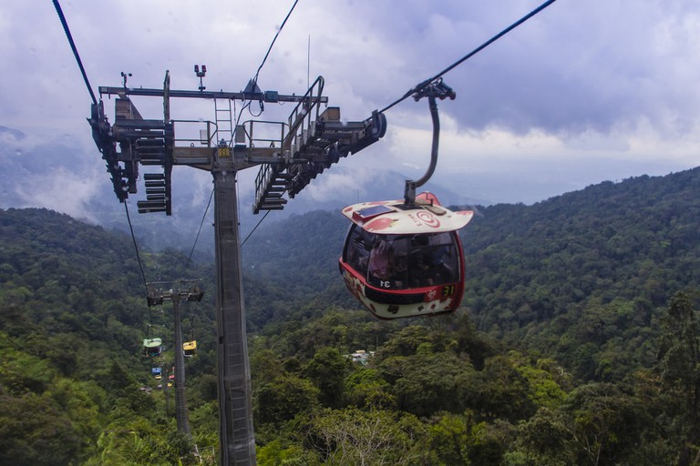 Cable car ride up to Genting Highlands Resort