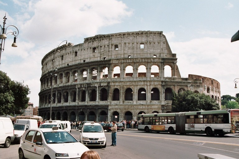 The exterior of the Colosseum | via WikiCommons