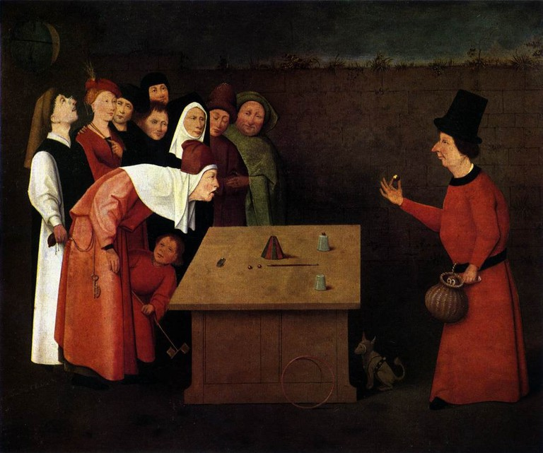 """The Conjurer,"" painted by Hieronymus Bosch"