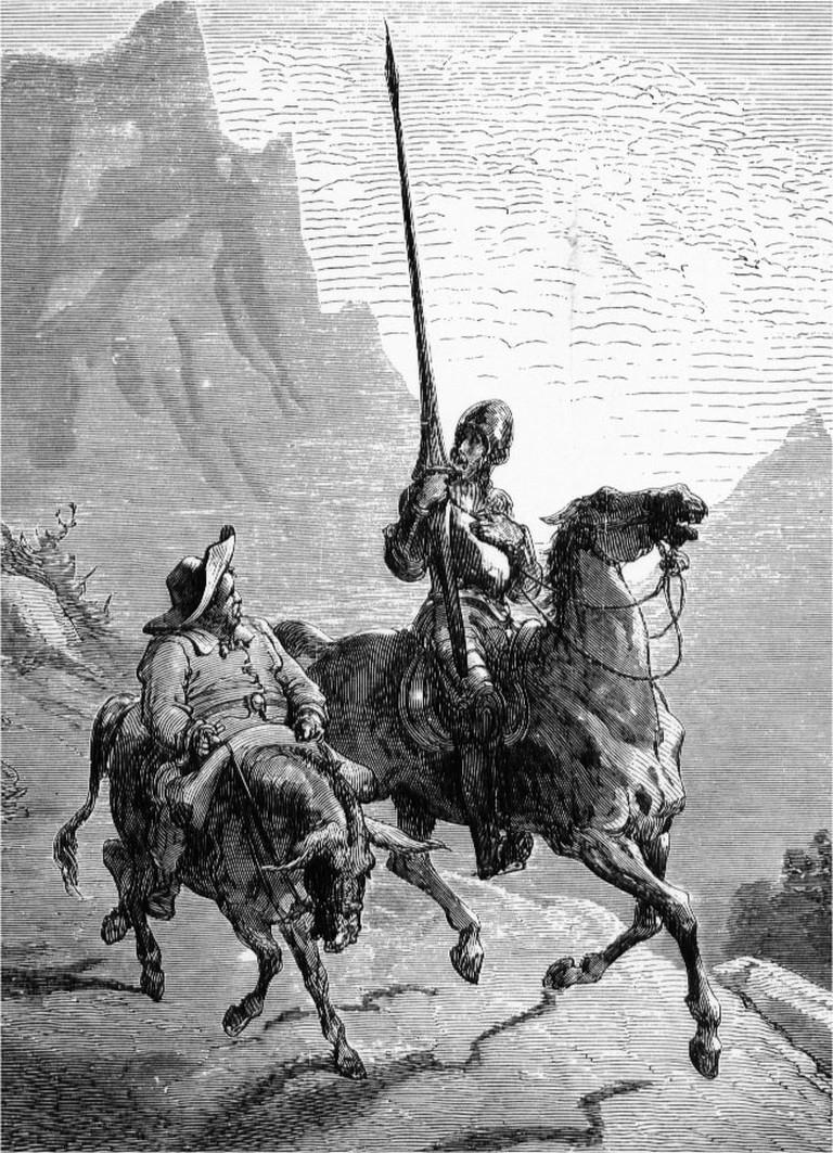 Don Quixote (right) and Sancho Panza