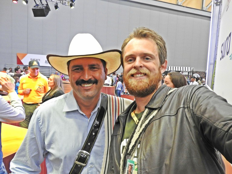 The author and the current Juan Valdez