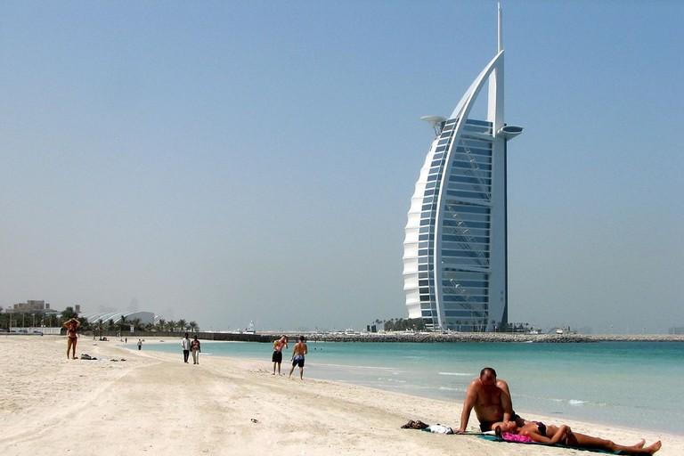 Hot weather at Jumeirah Beach