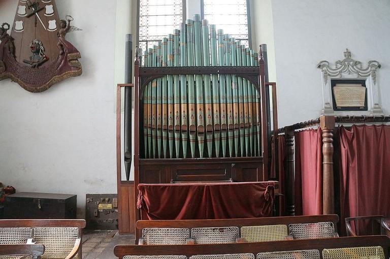 Antique organ inside Wolvendaal Church