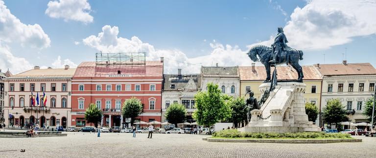 Matthias Corvin's statue in Cluj