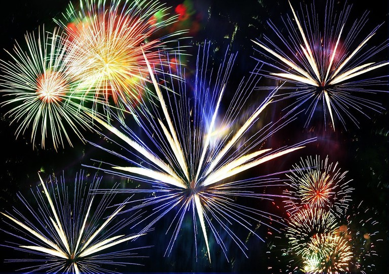 July and August have many fireworks displays