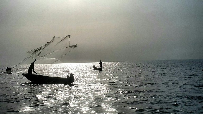 Fishermen on the Lagoon