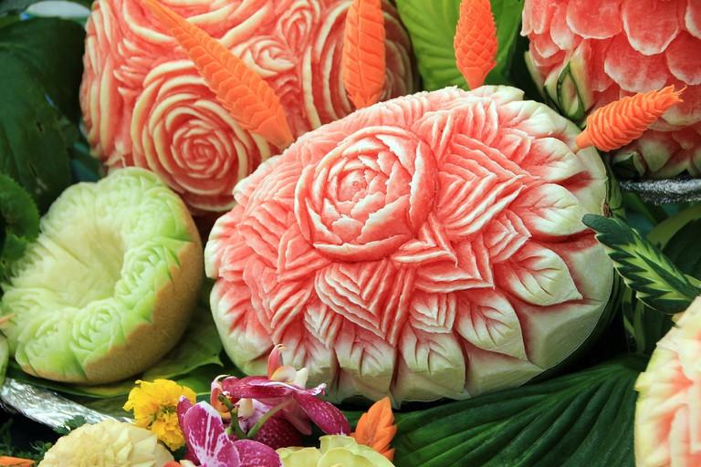 Melon Carving | © Anna ER/Pixabay