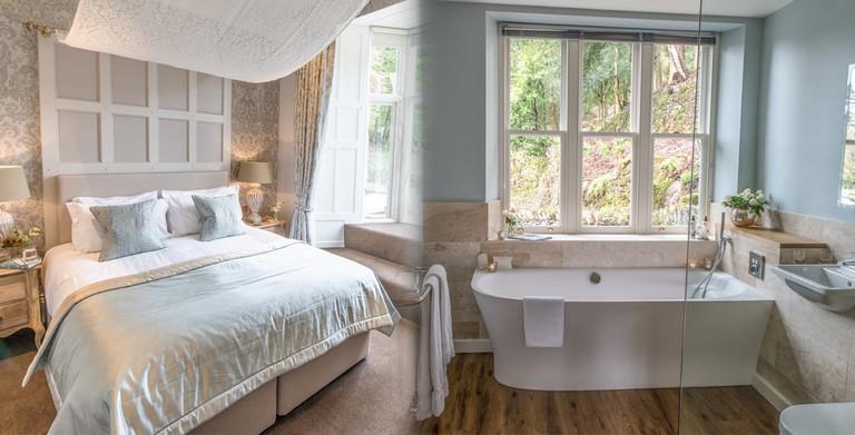 One of the luxurious bedrooms with en suite bathroom