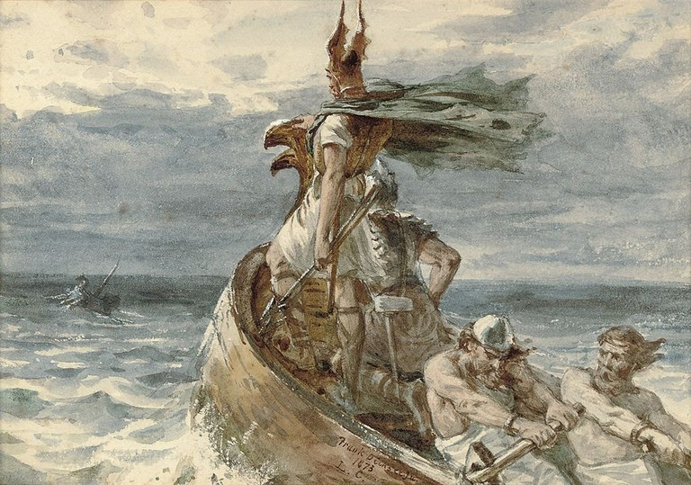 Frank_Dicksee_-_Vikings_Heading_for_Land