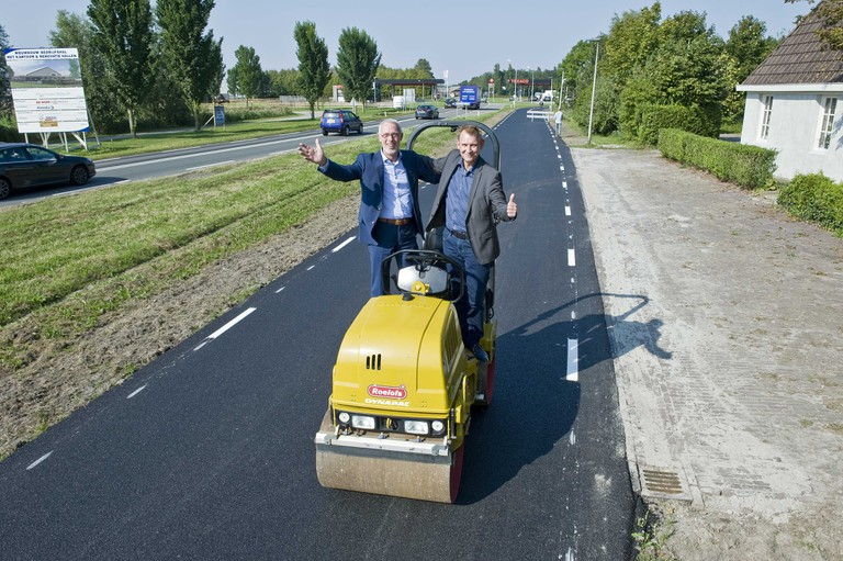 The bike path in Friesland