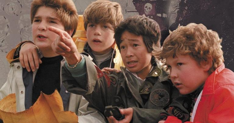Corey Feldman, Sean Astin, Ke Huy Quan, and Jeff Cohen in 'The Goonies' | © Warner Bros.