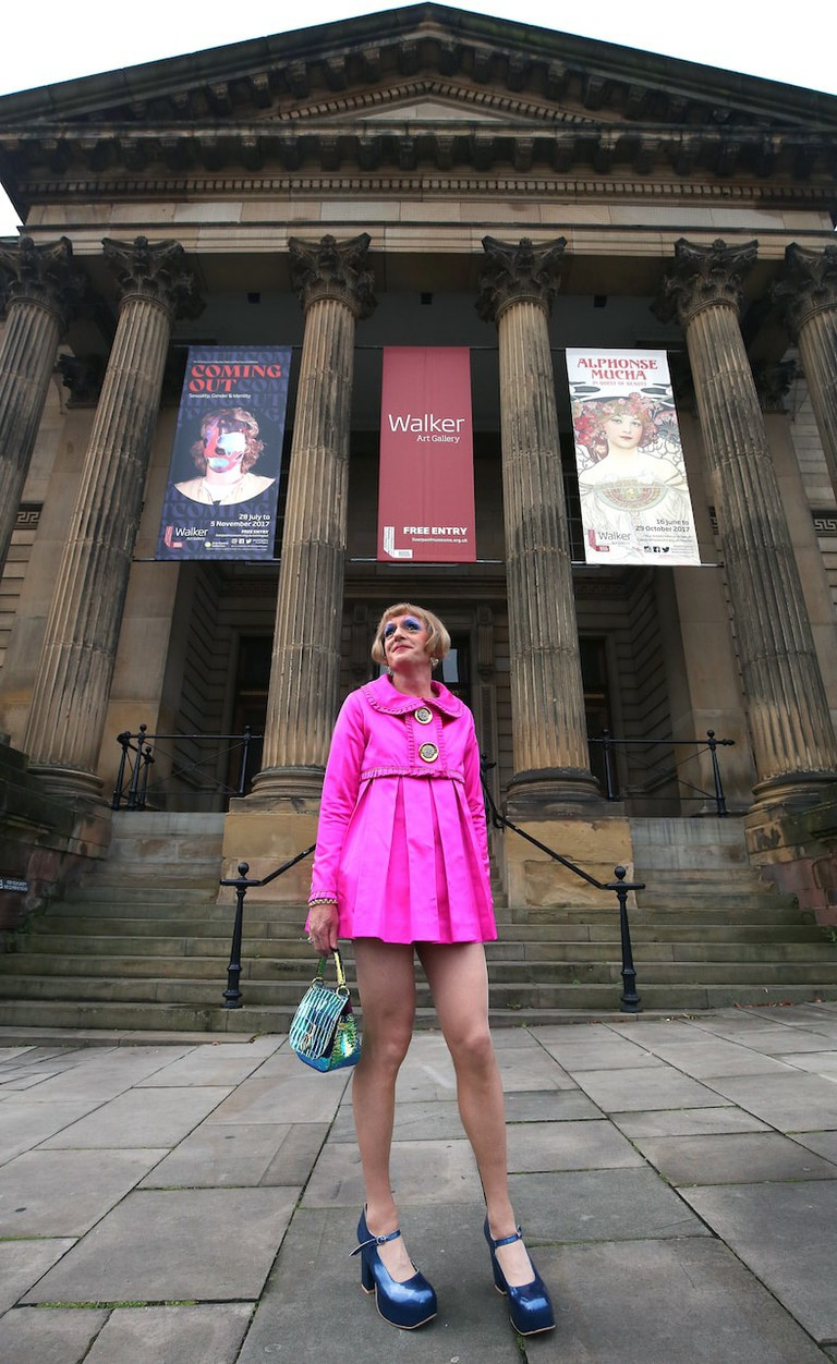 Grayson Perry at Liverpool Walker Art Gallery.Images by Gareth Jones