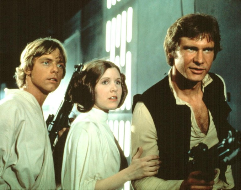 Mark Hamill, Carrie Fisher, and Harrison Ford in 'Star Wars' | © 20th Century-Fox