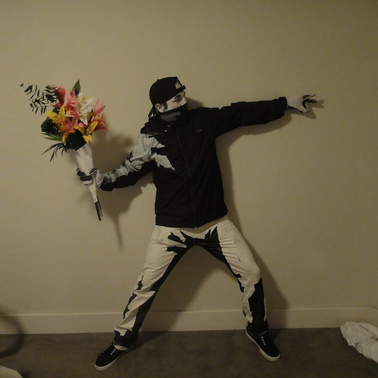 Banksy Rage, Flower Thrower | via My Modern Met