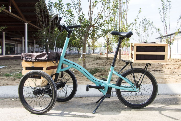 Bianchi bikes will help visitors navigate the massive site   © FICO Eataly World, www.eatalyworld.it