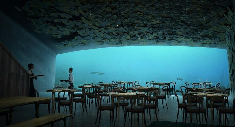 Interior of UNDER | Courtesy of Snøhetta