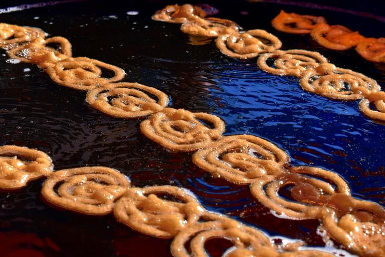 Jalebi is a deep fried dessert in India