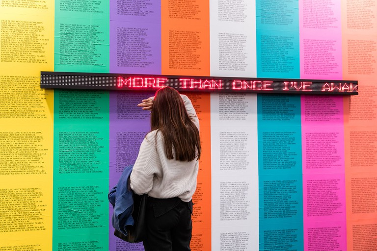 Jenny Holzer on Spruth Magers (A4) at Frieze London 2017