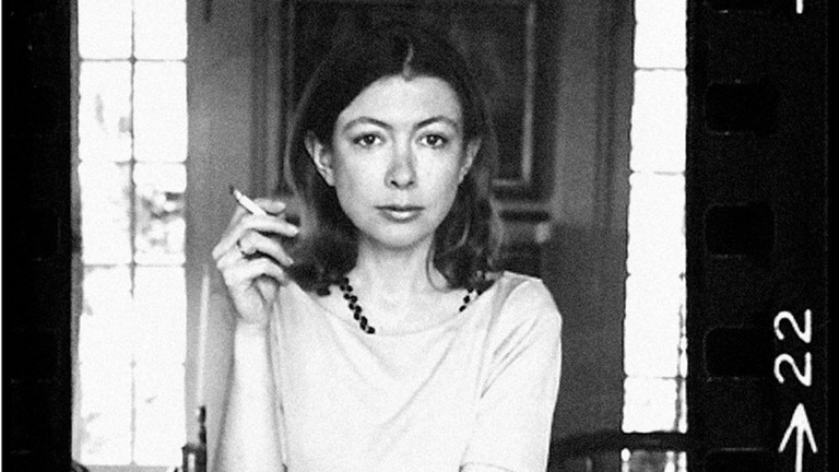 A photo of Joan Didion in'Joan Didion: The Center Will Not Hold' | © Netflix