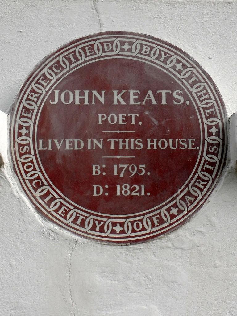 Keats House Plaque