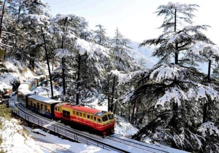 Shimla-Kalka Toy Train in Winter