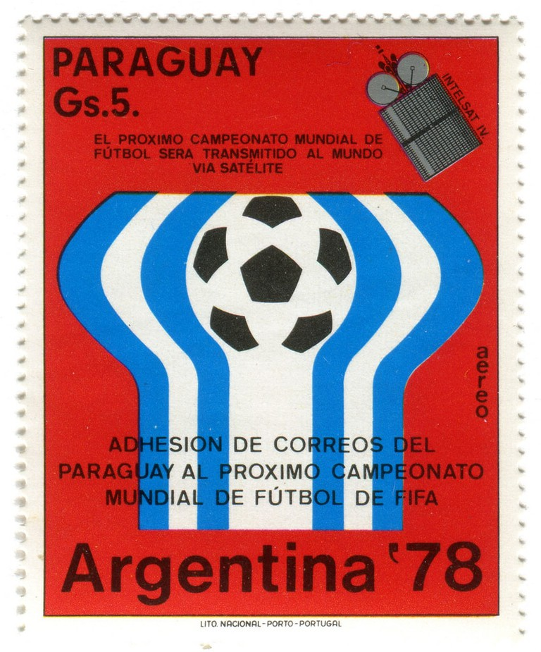 A stamp for the 1978 World Cup in Argentina