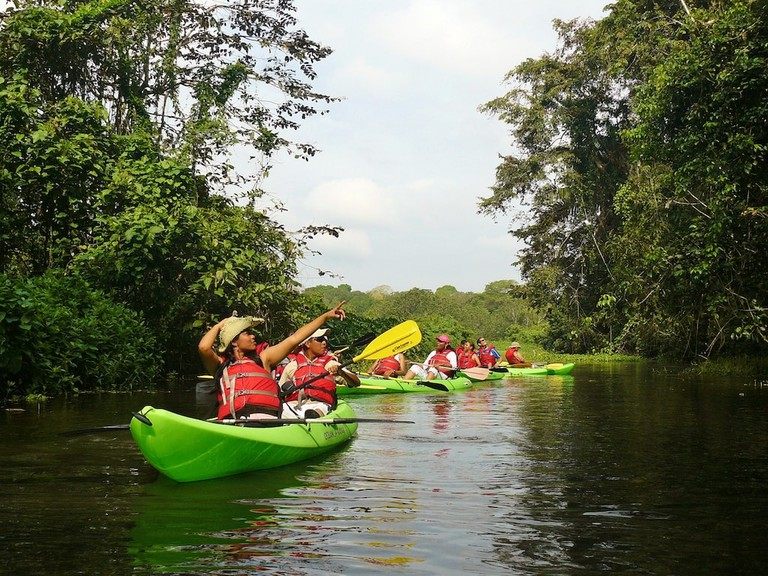 Kayaks on the Chagres River, Panama