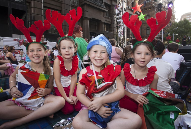 Kids at the Martin Place Concert Martin Place Christmas concert   Courtesy of the City of Sydney