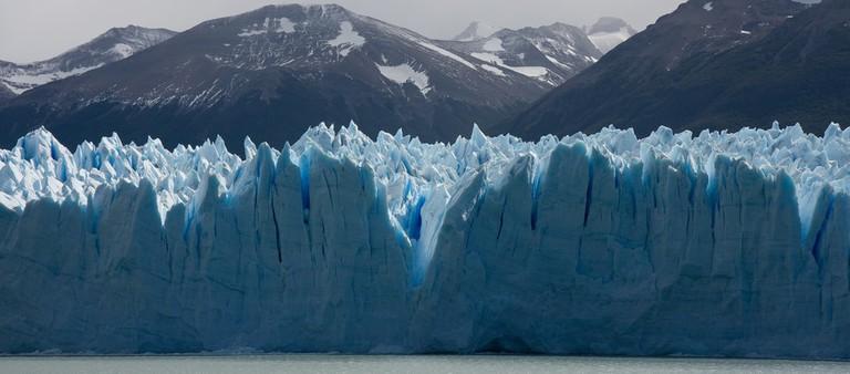 The ice wall of Perito Moreno