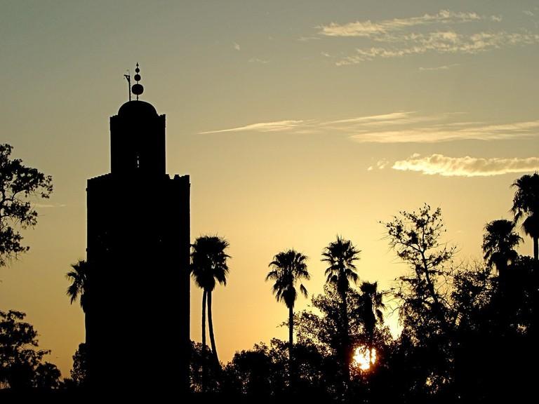 Koutoubia Mosque at sunset