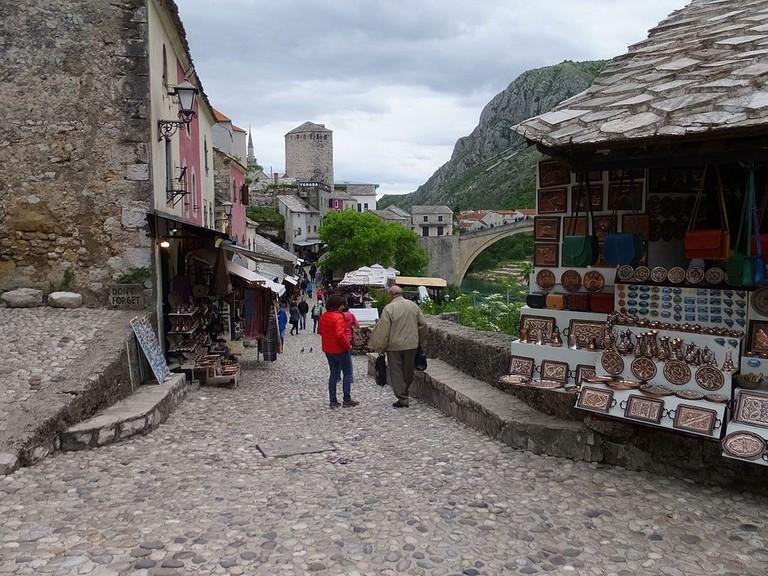 Little has changed at Mostar's Kujundziluk | © lienyuan lee/WikiCommons