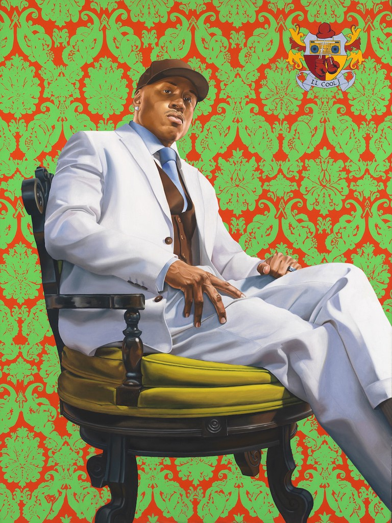 LL Cool J by Kehinde Wiley, oil on canvas, 2005. National Portrait Gallery, Smithsonian Institution; on loan from LL Cool J © Kehinde Wiley