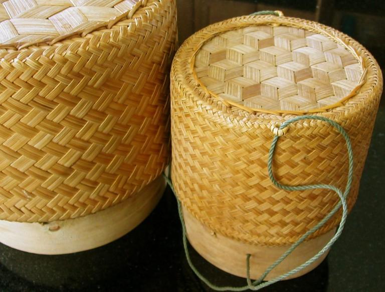 Lao Cuisine Ricebasket | Picklish/WikiCommons