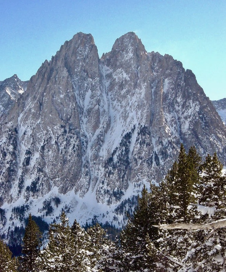 Les Encantats are believed to be giants turned into mountains|