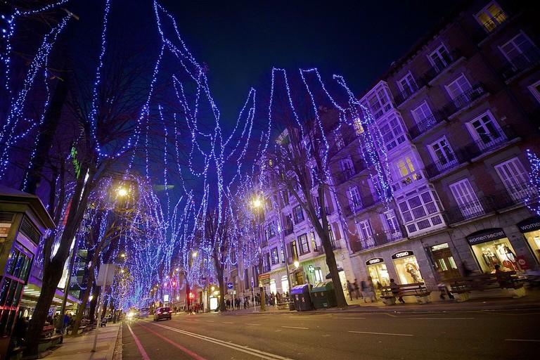 Christmas lights in Bilbao | ©Roman San / Flickr