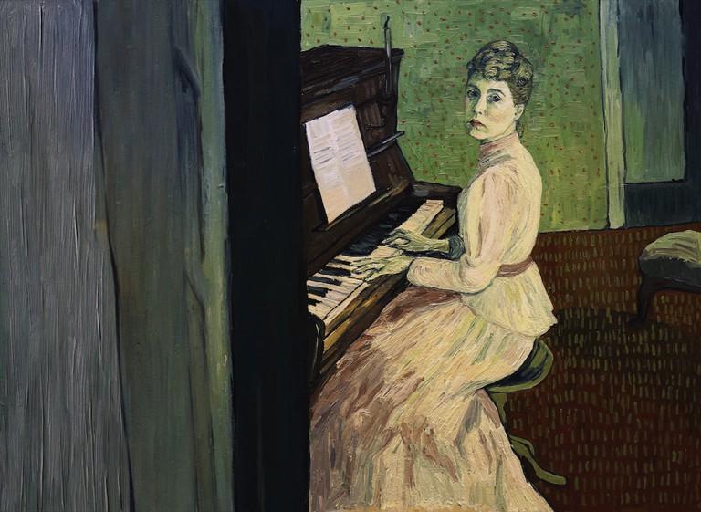 Marguerite Gachet (Saoirse Ronan) at the piano | © Good Deed Entertainment