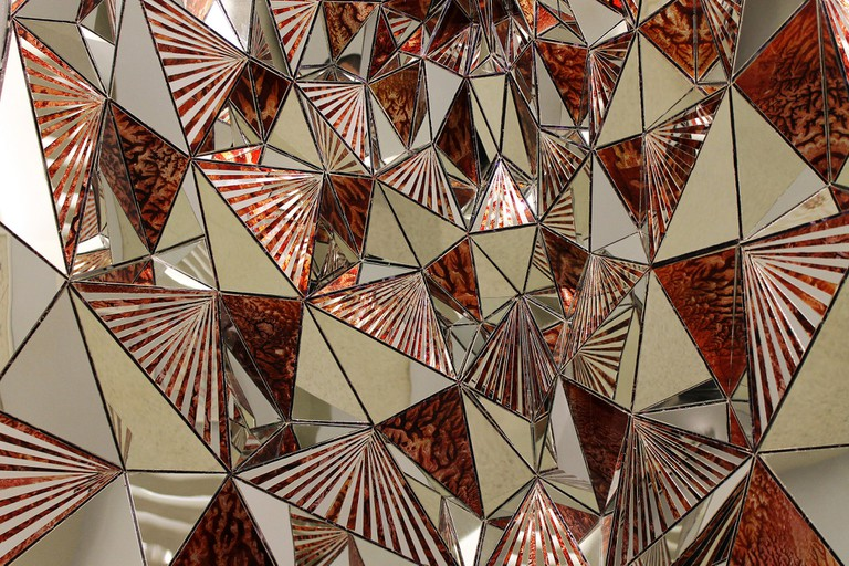 Monir Shahroudy Farmanfarmaian at the Guggenheim | ©Jules Antonio:flickr