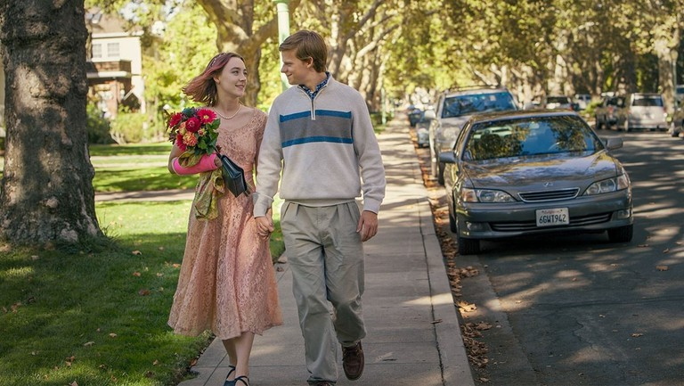 Saiorse Ronan and Lucas Hedges in Lady Bird