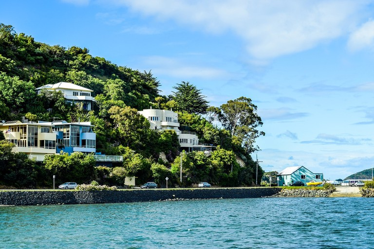 A seaside suburb in Dunedin, New Zealand