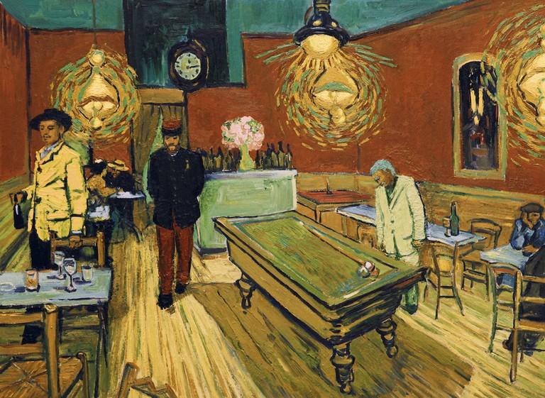 Night Café, Arles Lt Milliet (Robin Hodges) and Armand Roulin (Douglas Booth) | © Good Deed Entertainment