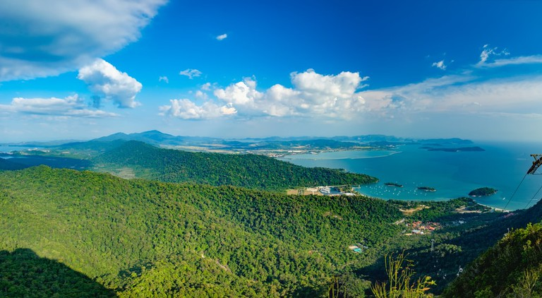 Panoramic view of Langkawi via cable car ride